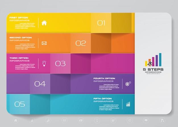 Élément Infographique De Présentation Graphique Vecteur Premium