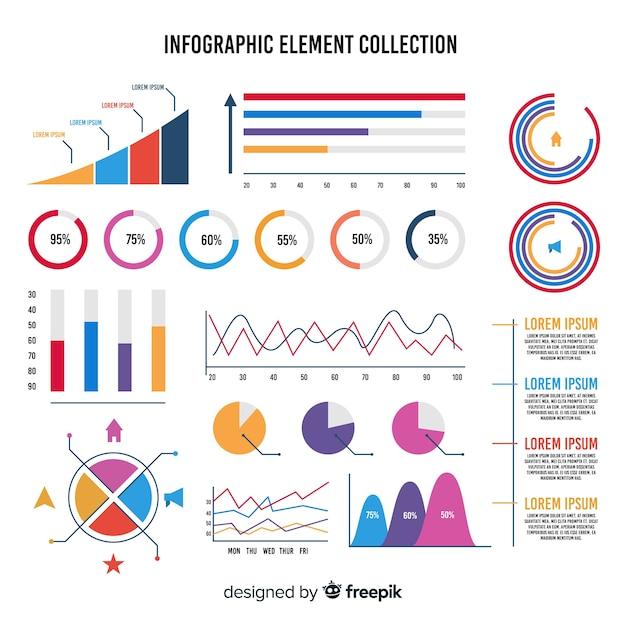 Élément infographique Vecteur gratuit