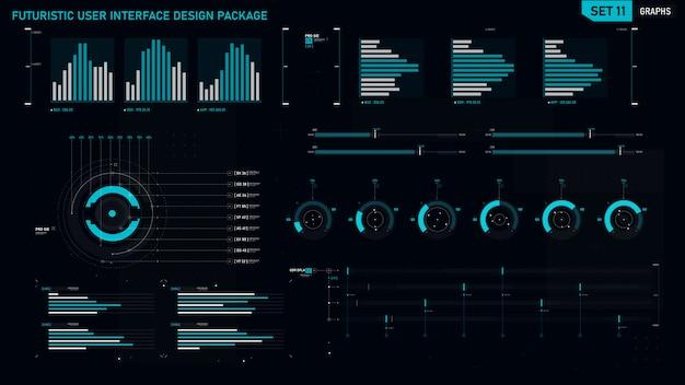 Élément d'interface utilisateur futuriste Vecteur Premium