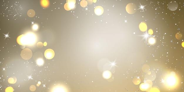 Élément De Lumière Flou Abstrait Qui Peut être Utilisé Pour L'arrière-plan Décoratif Bokeh. Vecteur Premium