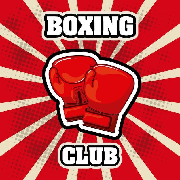 Élément simple de boxe Vecteur gratuit