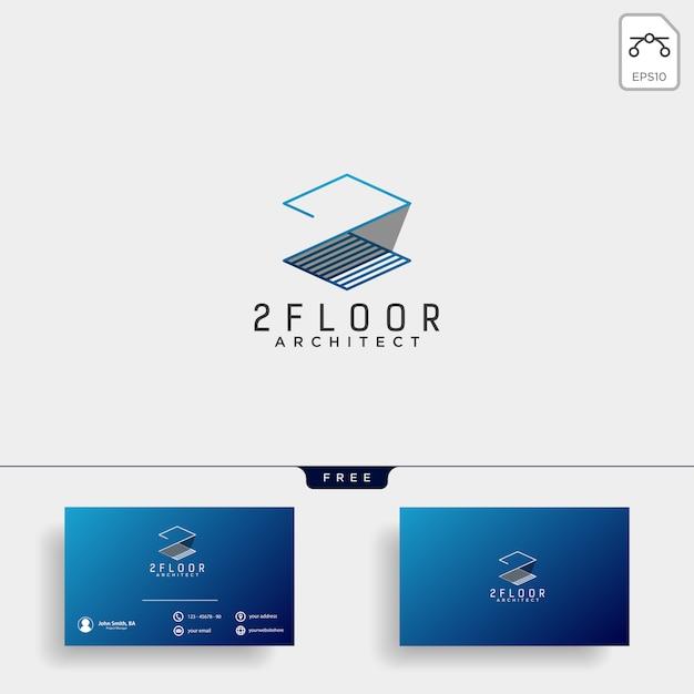 Élément de vecteur de construction architecte logo design icône Vecteur Premium