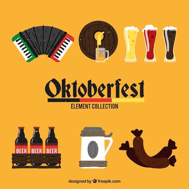 Éléments allemands de fête de la bière Vecteur gratuit