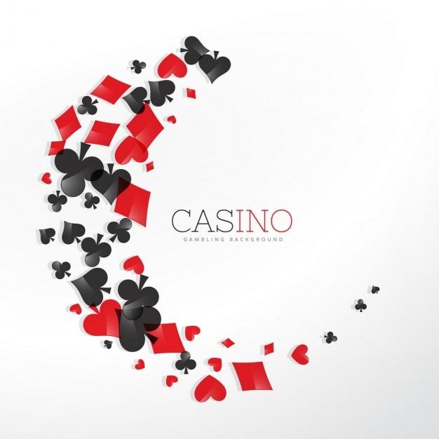 éléments casino de cartes à jouer dans le style d'onde Vecteur gratuit