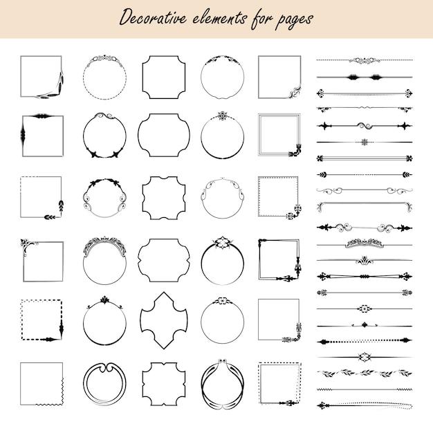 Éléments de conception calligraphiques. Vecteur Premium