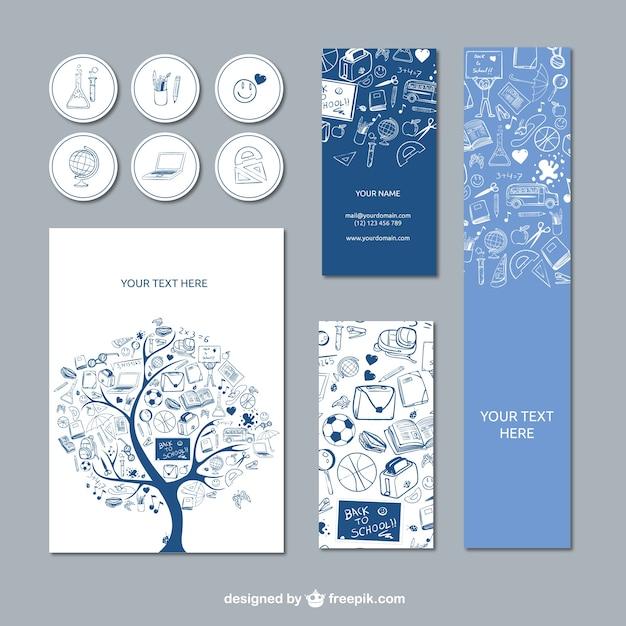 Éléments de conception de l'école Vecteur gratuit