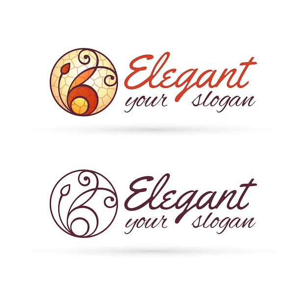Eléments de conception de logo lineart élégant Vecteur Premium