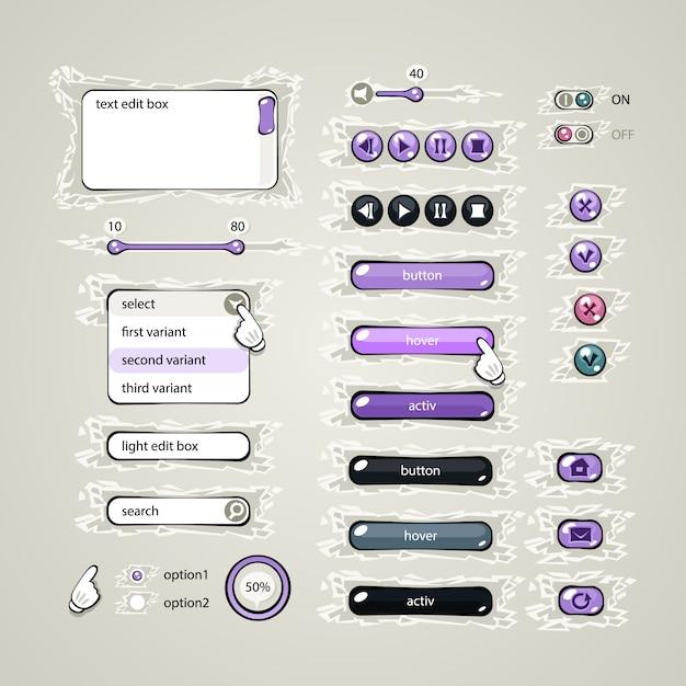 Éléments de conception web Vecteur Premium