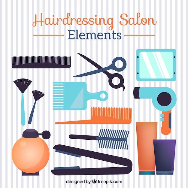 éléments d\'un salon de coiffure | Télécharger des Vecteurs ...