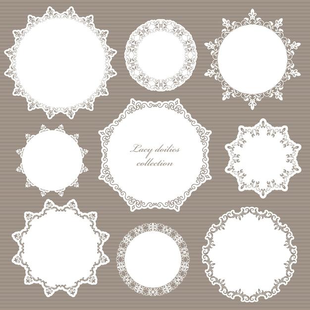 Éléments décoratifs pour mariage Vecteur Premium