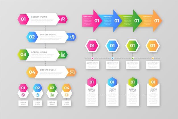Éléments de dégradé d'infographie Vecteur gratuit