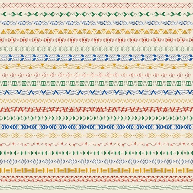 Éléments de design de ligne diviseur vector collection Vecteur gratuit