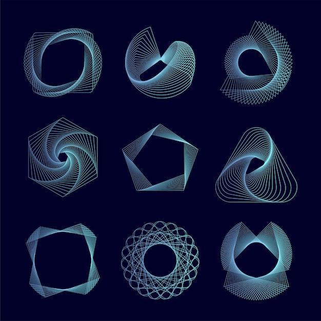 Les éléments géométriques abstraits définissent le vecteur Vecteur gratuit