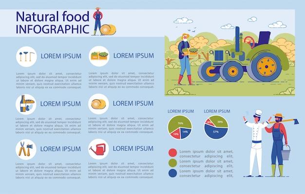 Éléments D'infographie Fixés Pour Les Aliments Biologiques Naturels. Vecteur Premium