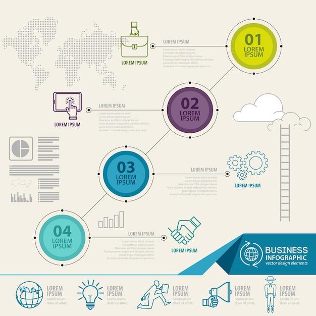 Éléments d'infographie avec des icônes de l'entreprise Vecteur Premium