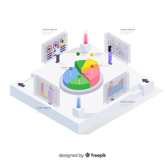 Éléments d'infographie en style isométrique Vecteur gratuit