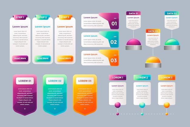 Éléments infographiques brillants réalistes Vecteur gratuit