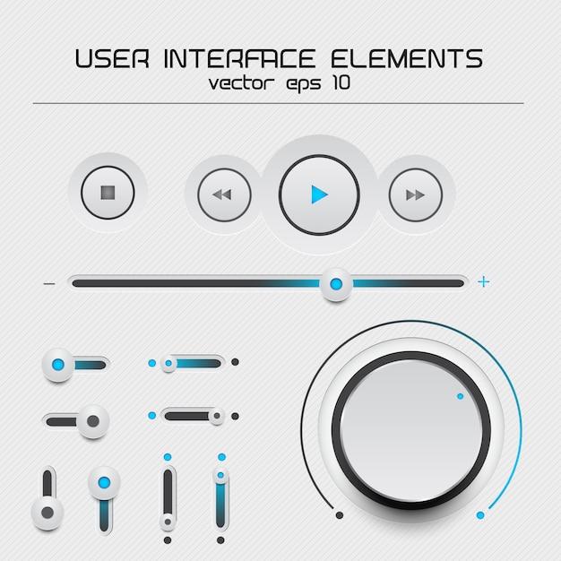 Éléments De L'interface Utilisateur Web Vecteur Premium