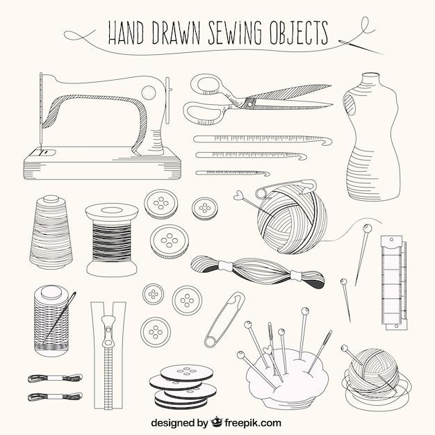 Éléments de mesure dessinés à la main Vecteur gratuit