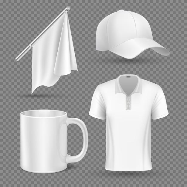 Éléments promotionnels vector set maquette Vecteur Premium
