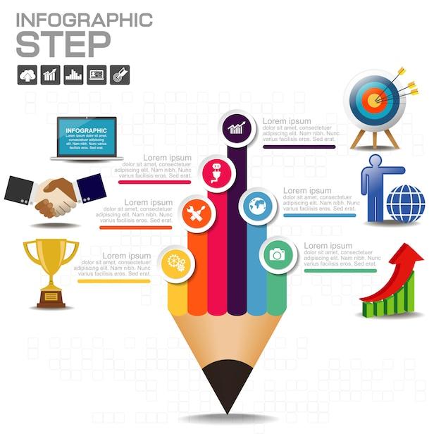 Éléments vectoriels pour infographie. Vecteur Premium