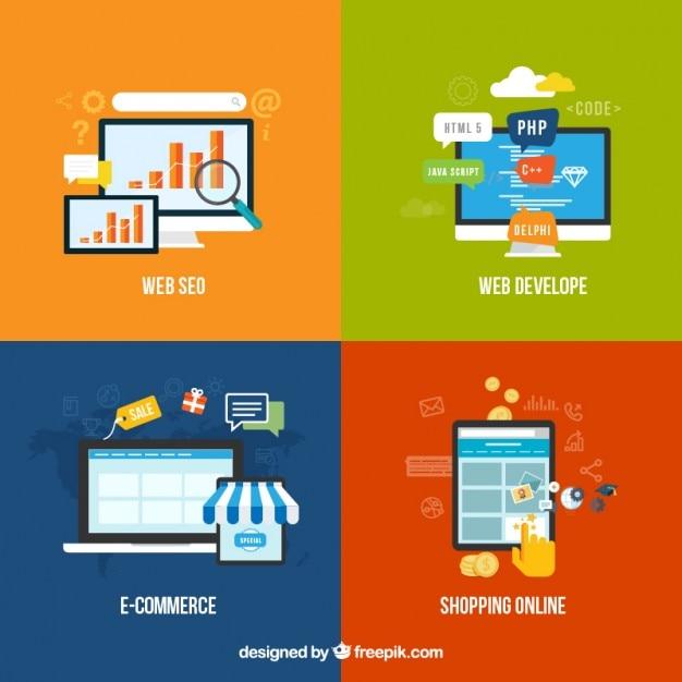 Éléments web Vecteur Premium