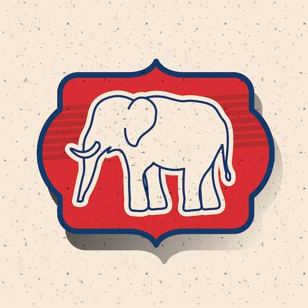lphant lintrieur de licne de cadre voter la nation lectorale - Cadre Elephant