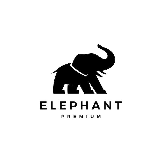 Éléphant Logo Icône Illustration Vecteur Premium