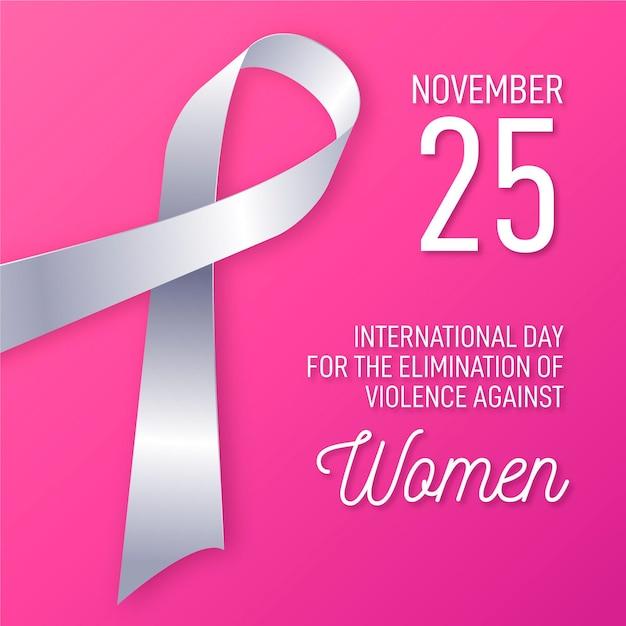 Élimination De La Violence Contre Les Femmes Vecteur gratuit