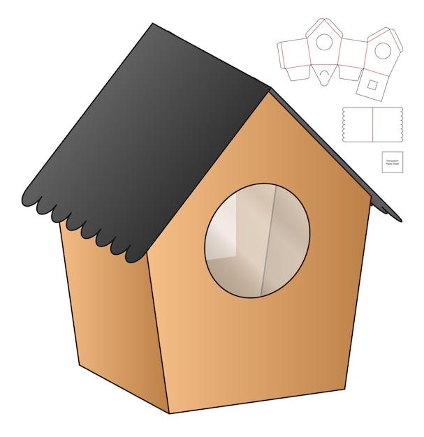 Emballage De Boîte Conception De Modèle Découpé Vecteur Premium