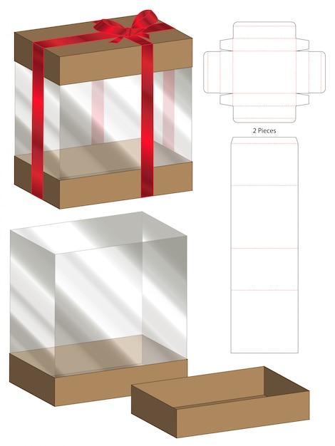 Emballage de boîte à découper modèle pour impression Vecteur Premium