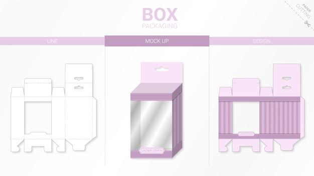 Emballage De Boîte Et Maquette Modèle Découpé Vecteur Premium