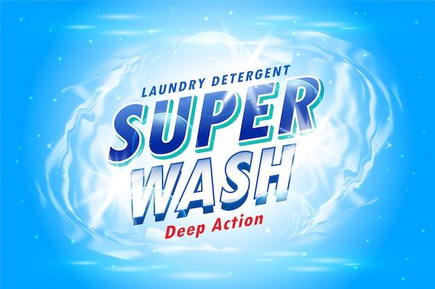 Emballage de détergent à lessive pour super lavage Vecteur gratuit