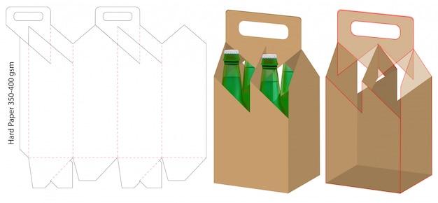 Emballage pour boissons Vecteur Premium