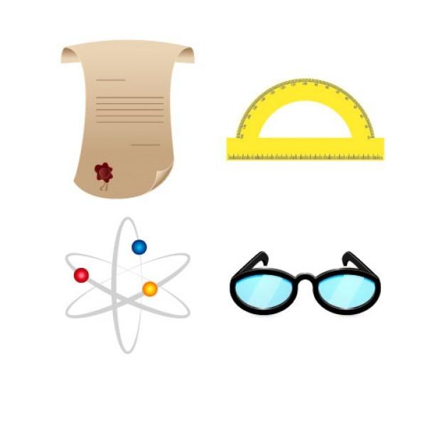 Emballer des objets de la science Vecteur gratuit