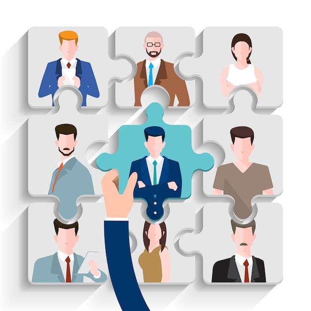 Embaucher des gens d'affaires Vecteur Premium