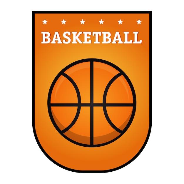 Emblème de basket-ball Vecteur Premium