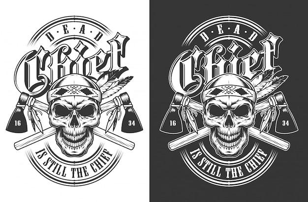 Emblème De Crâne De Vecteur Vecteur gratuit