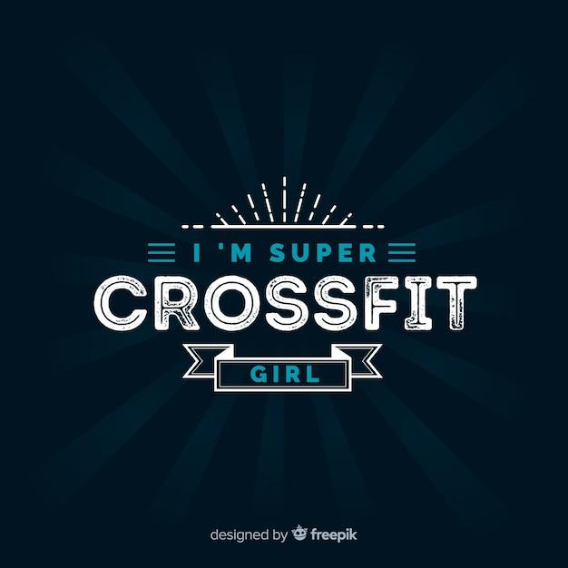Emblème crossfit avec phrase de motivation Vecteur gratuit