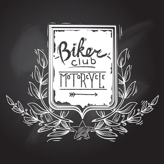 Emblème du biker club Vecteur gratuit
