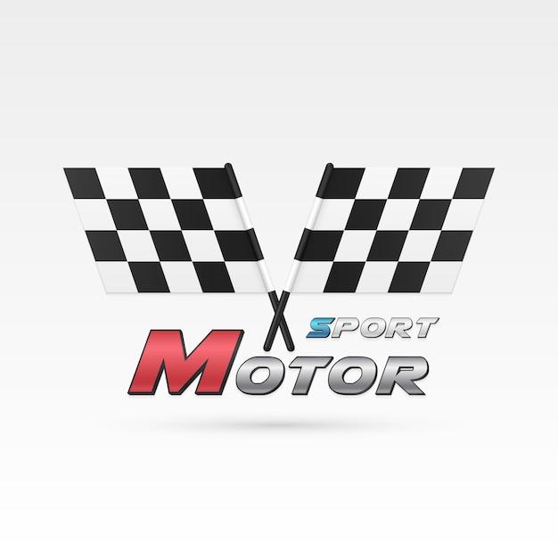 Emblème Du Sport Automobile Vecteur Premium