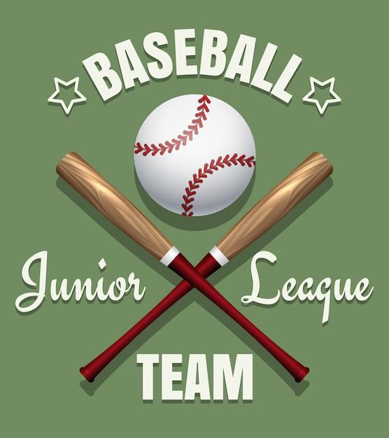 Emblème de l'équipe de baseball Vecteur Premium