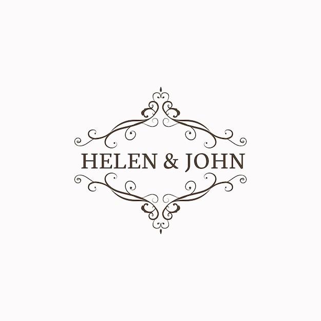 Emblème d'invitation de mariage Vecteur gratuit