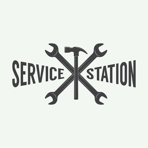 Emblème et logo de mécanicien. Vecteur Premium