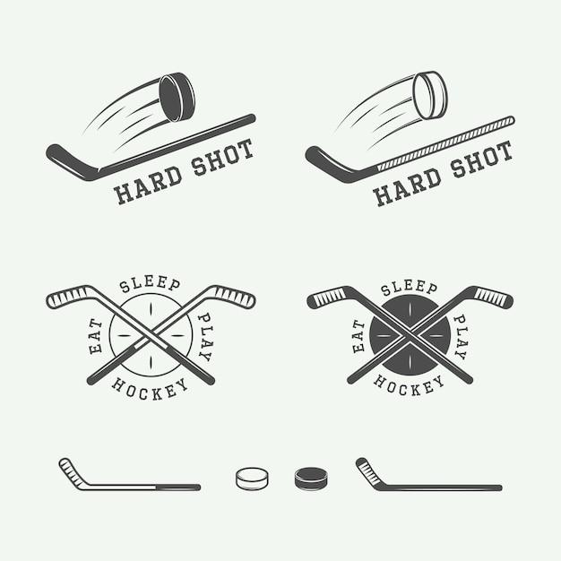 Emblèmes De Hockey Vecteur Premium
