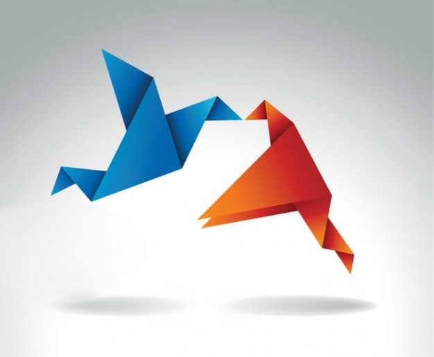Embrasser origami oiseau bleu et orange t l charger des for Oiseau bleu et orange