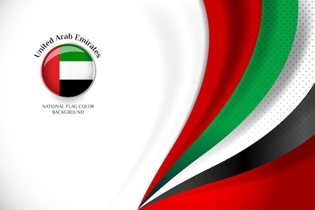 Emirats arabes unis drapeau concept fond Vecteur Premium