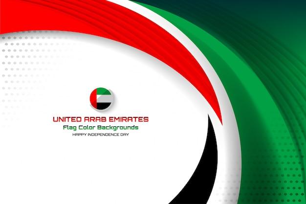 Emirats arabes unis drapeau fond concept Vecteur Premium