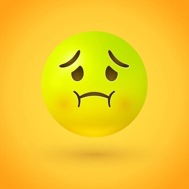 Emoji Malade Face A La Nausee Vecteur Premium