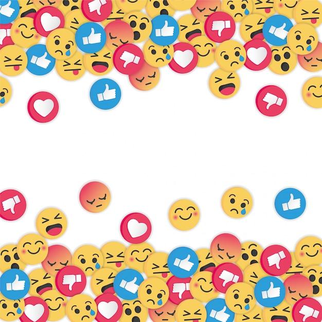 Emoji moderne design sur fond blanc Vecteur Premium